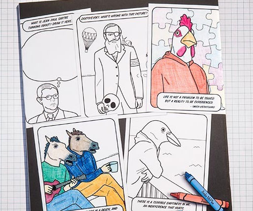 existential coloring book - Thrill Murray Coloring Book