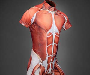 Exposed Muscles Cycling Suit