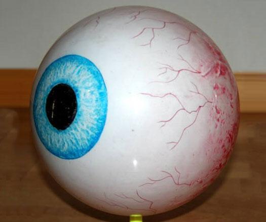 eyeball bowling ball