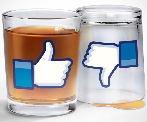 Facebook Like Shot Glasses
