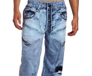 Faux Jeans Pajama Pants