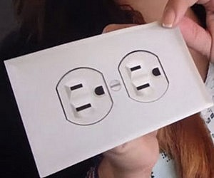 Vintage Fake Electric Outlet Sticker