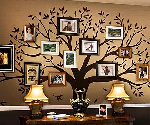 Cute Family Tree Wall Decal