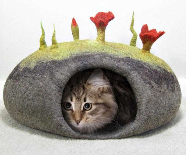 Cozy Cat Bed Crochet Pattern   534x640