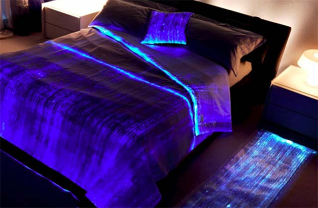Cute Fiber Optic Bedspread