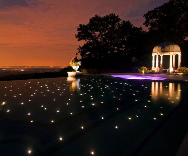 fiber optic pool lights