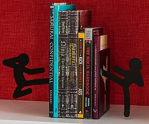 Fighting Stickmen Bookends