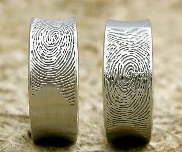 Thin Mens Wedding Band 46 Best Fingerprint Wedding Band