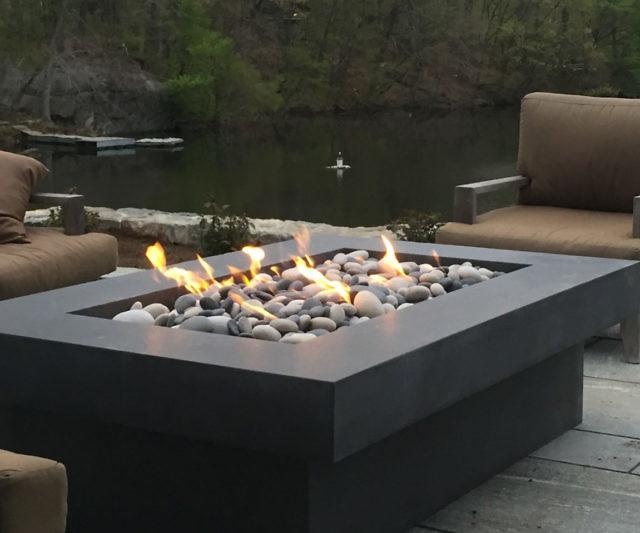 olson concrete fire pit table. Black Bedroom Furniture Sets. Home Design Ideas