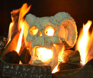 Fireproof Fireplace Skull ...