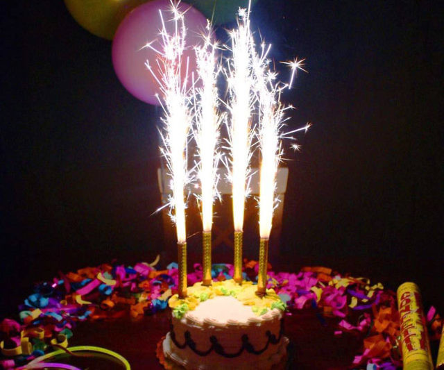 Smokeless Fireworks Birthday Candles