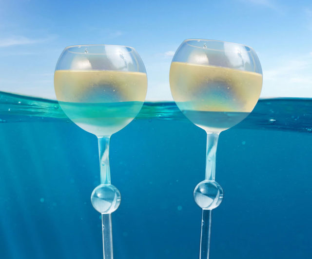 e01e54a920 Floating Beach Wine Glasses
