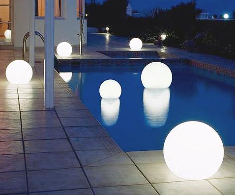 Floating Light Up Globes