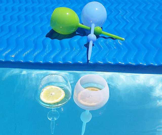 floating self standing wine glass - Floating Wine Glass