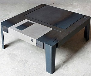 Beautiful Floppy Disk Table