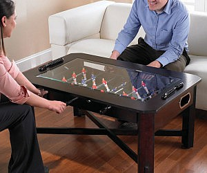 Foosball Coffee Table - Foosball coffee table with stools