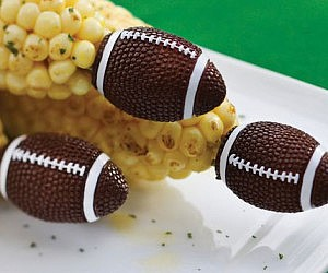 Football Shaped Corn Holders