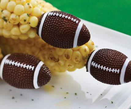 Football Shaped Corn Holders
