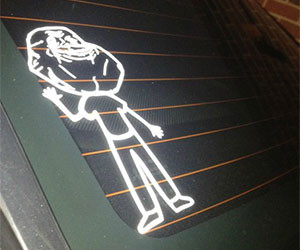 Forever Alone Family Car Sticker