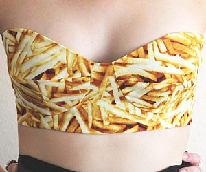 French Fry Bustier Bra
