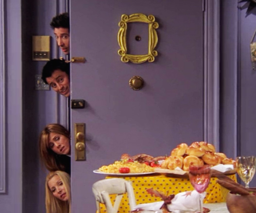 friends yellow peephole frame replica
