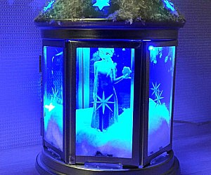 Frozen Night Light Terrarium