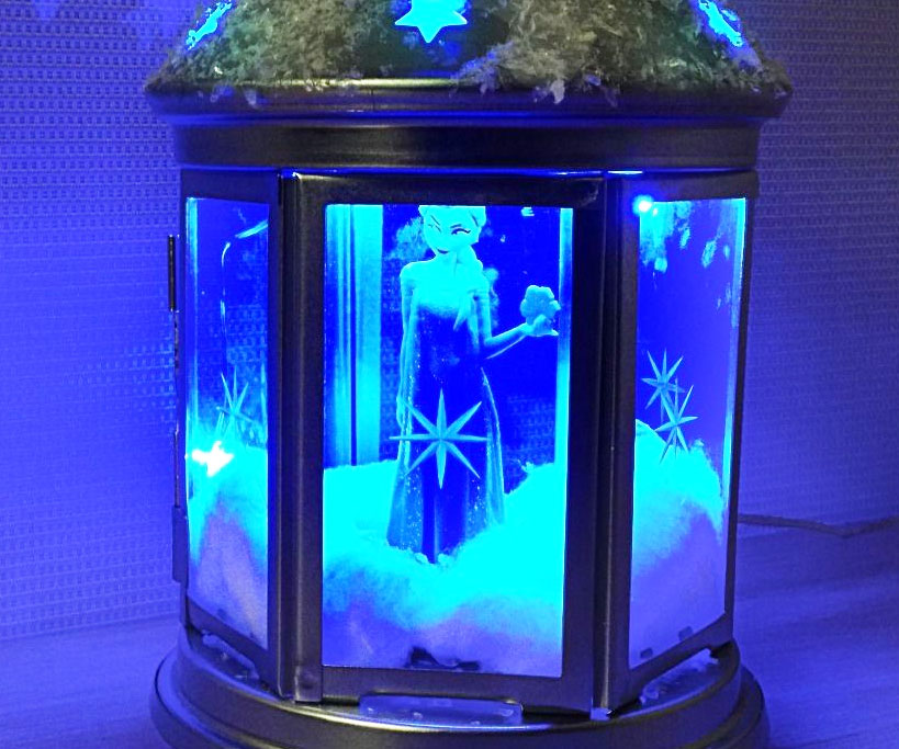 Frozen Night Light Terrarium