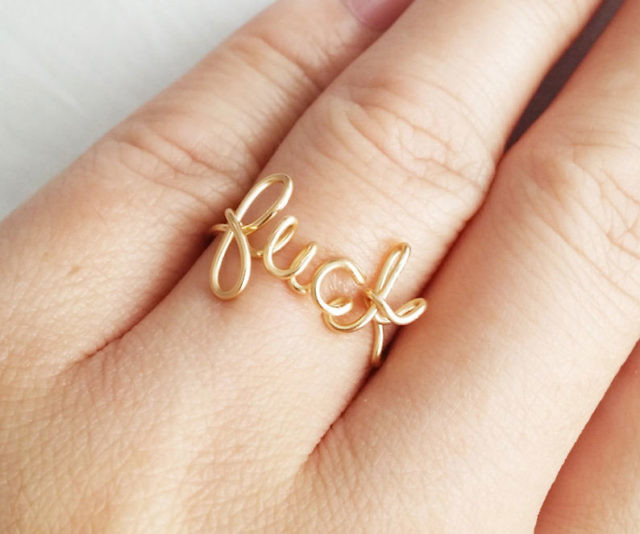 Fancy Swear Word Rings