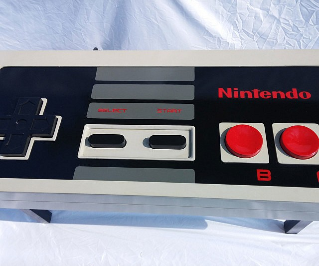 Cute Functional NES Controller Coffee Table
