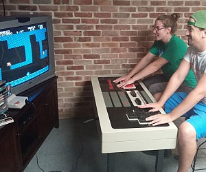 functional nes controller coffee table