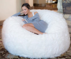 Furry Memory Foam Bean Bag Chair
