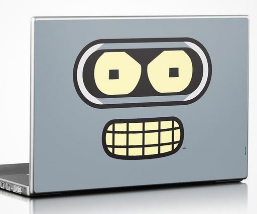 Futurama bender laptop decal
