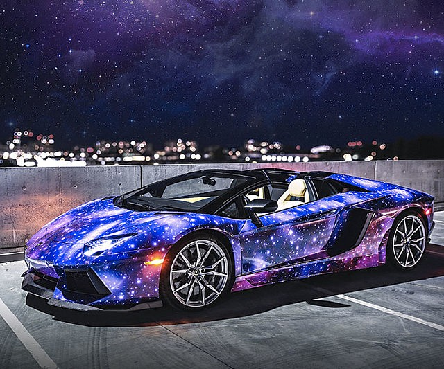 Galaxy Paint Job Lamborghini