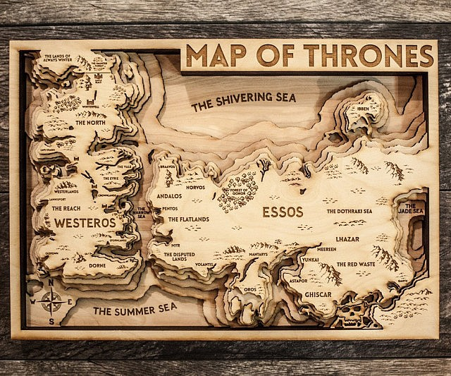 Of thrones 3d wood map game of thrones 3d wood map gumiabroncs Image collections
