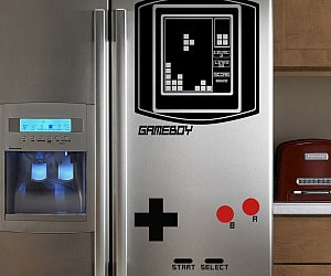 Refrigerator Game Boy Tetris Decal