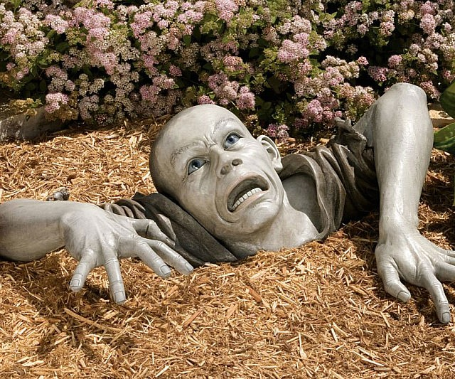 Lawn zombie decoration solutioingenieria Image collections
