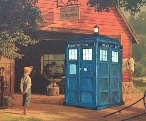 Geeky Repainted Gift Shop Art