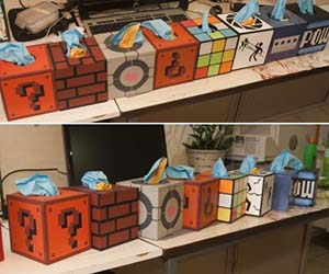 Geeky Tissue Boxes