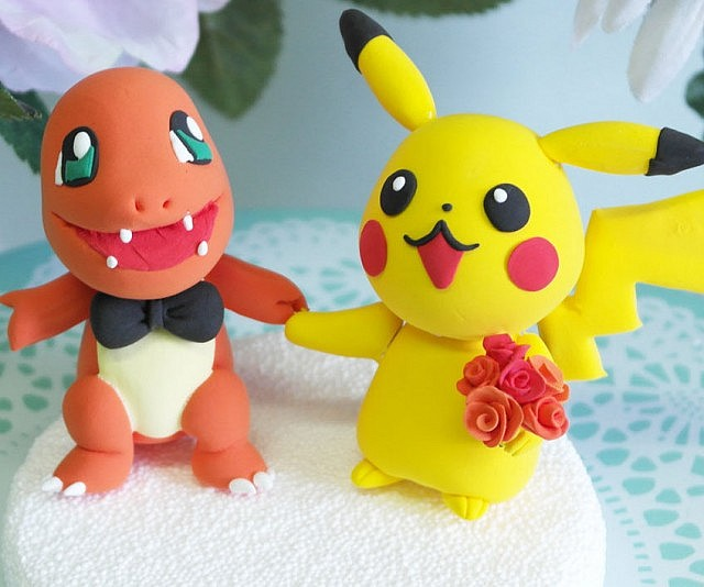 Custom Geeky Wedding Cake Toppers