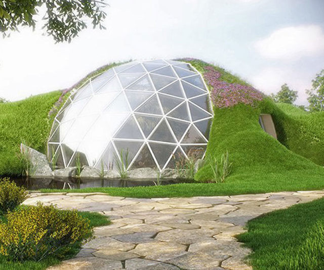 Geodesic Dome: Star Dome A Simple And Elegant Geodesic Dome T