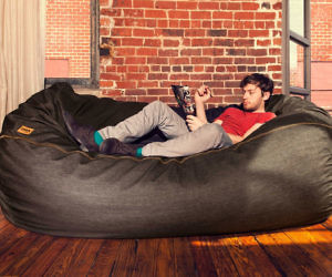 Giant Bean Bag Denim Sofa