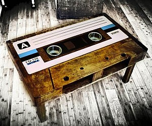 Giant Cassette Tape Table