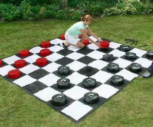 Giant Checkers Game Mat
