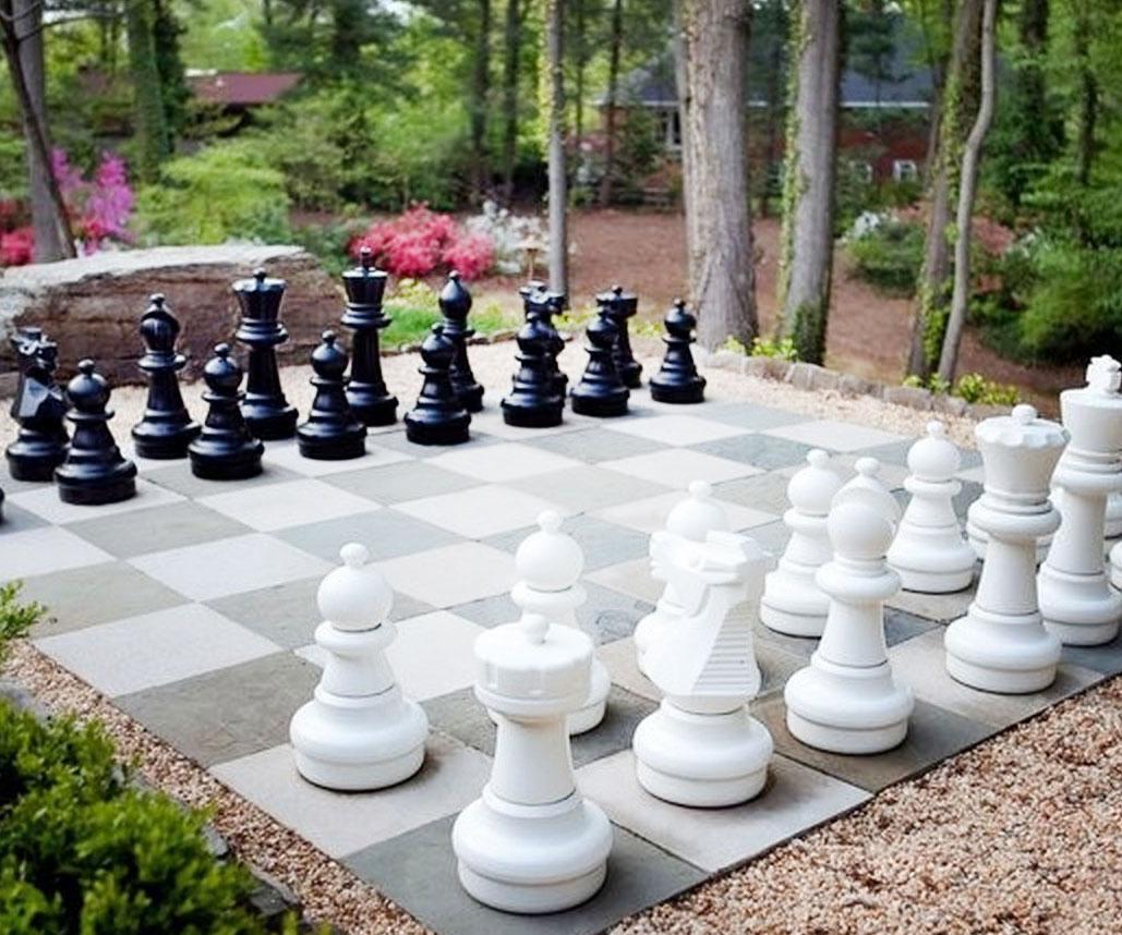 Giant Backyard Chess Set