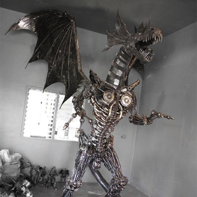 Cool Giant Metal Dragon