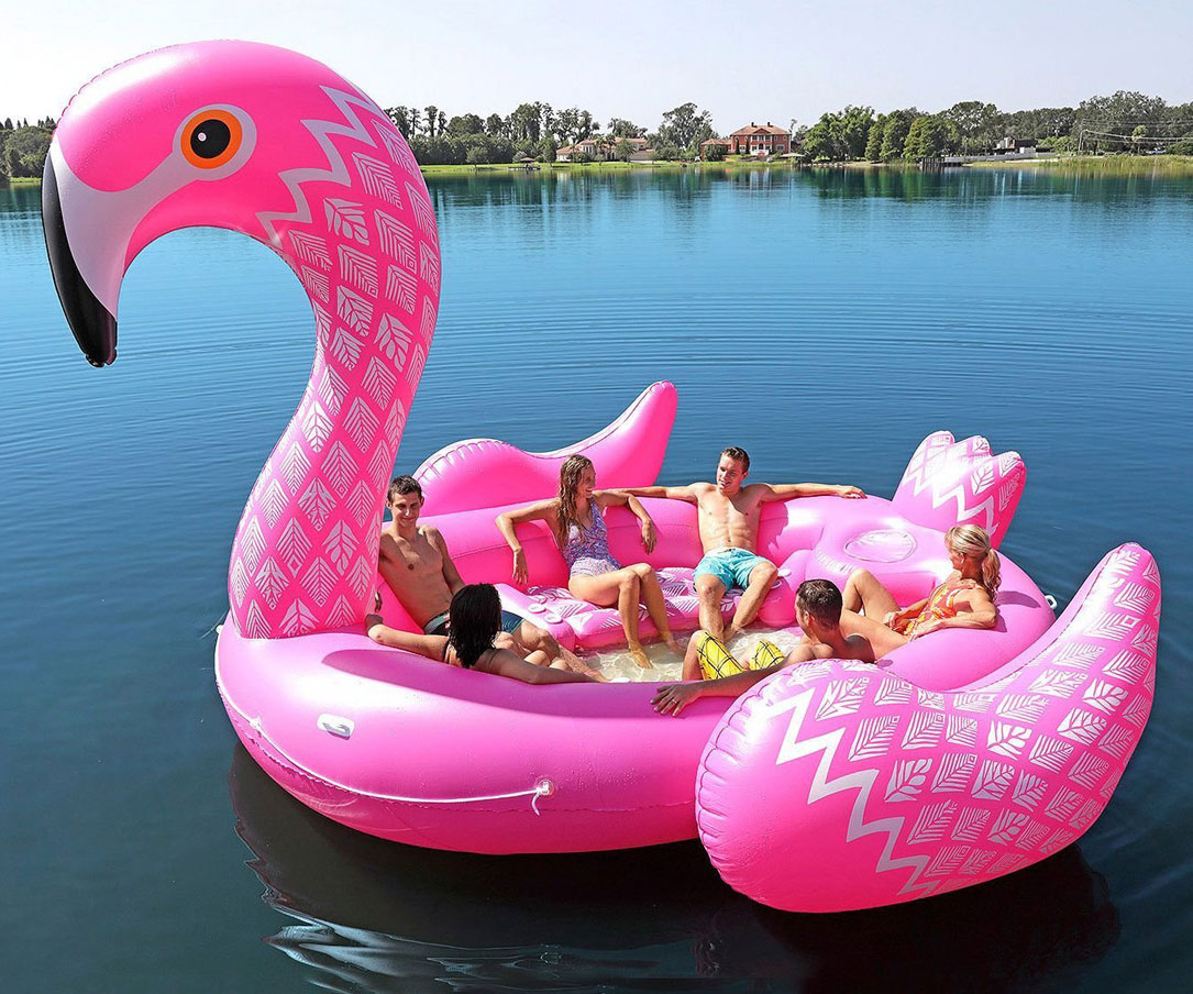 Giant Flamingo Party Float