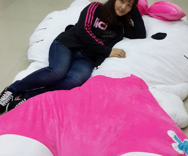 Ideal Giant Hello Kitty Pillow Bed