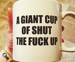 Giant STFU Coffee Mug