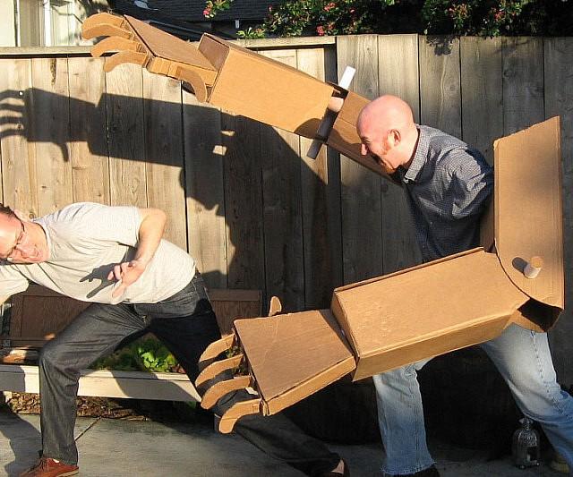 Giant Cardboard Robot Arms