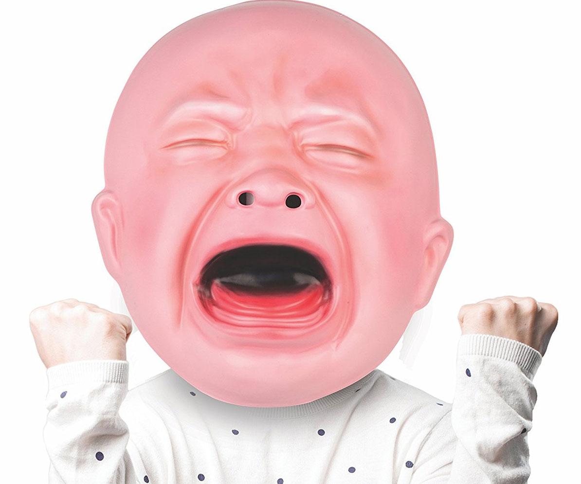 Gigantic Crying Baby Mask